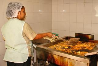 Taco Fish La Paz 10 Frying