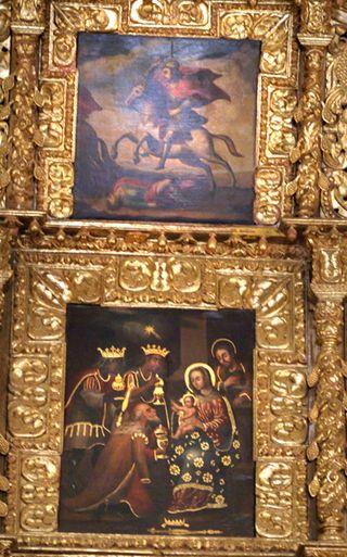 Retablo 2 Santiago Apóstol y La Adoración