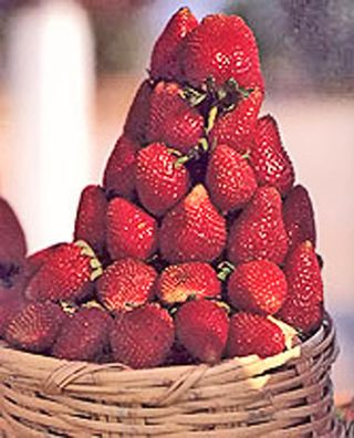 Strawberries in Basket