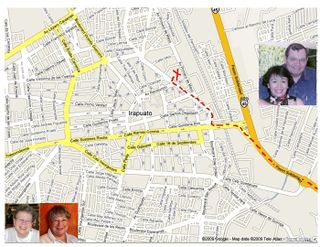 Bob and Gina Map