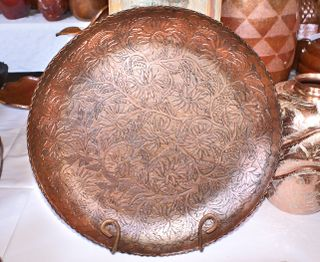 Engraved Copper Batea