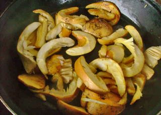 Sliced Amanitas to Use with Peppers, Cactu