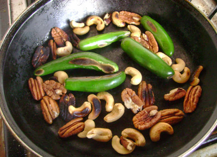 Roasting Chiles and Nuts, Cactu