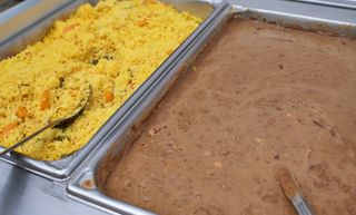 Buffet with Beans and Rice