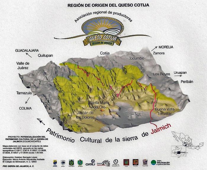 Mapa Región de Origen Jalmich