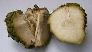 Chirimoya ripe open
