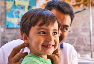 José Raúl y su papá