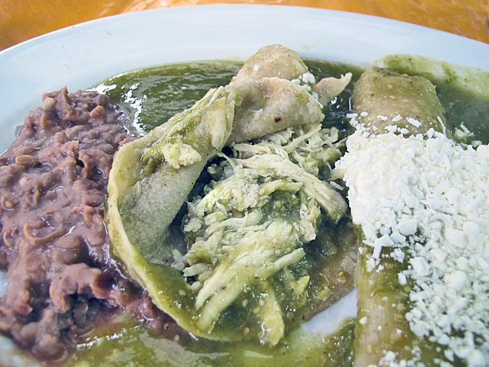 El Portalito Enchiladas Verdes Abiertas