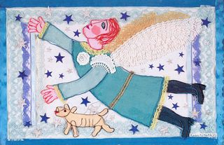 Oaxaca Morales Collage Angel Azul
