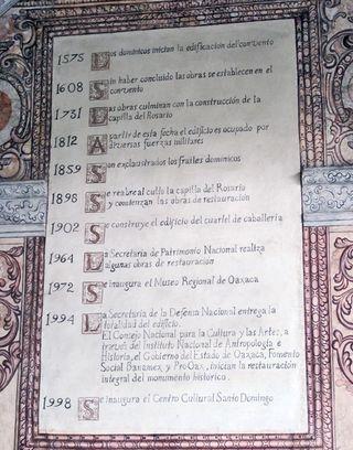Oaxaca Santo Domingo Datos de Edificación