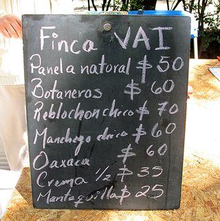 Mercado 100 Finca Vai Quesos