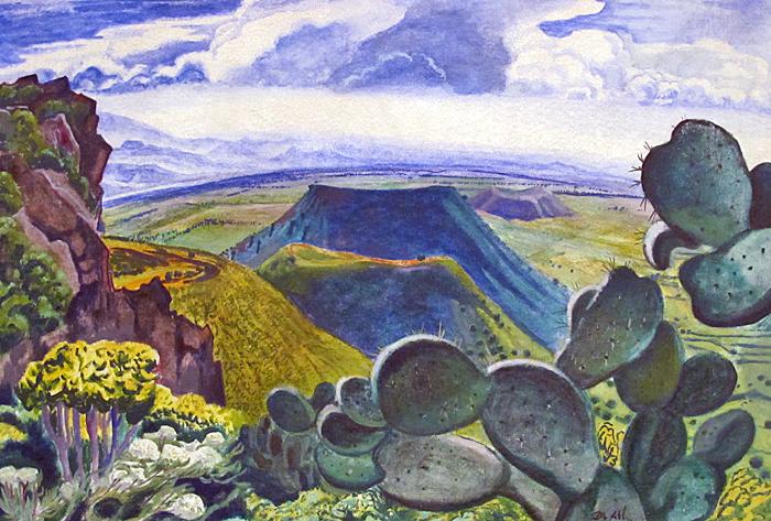 Atl Valle de México desde el Sur 1931 Óleo sobre Tela Colección Particular