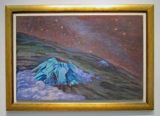 Atl Cráter y la Vía Láctea 1960 Óleo y Atl Color sobre Masonite Colección Particular Cortesía Galería Arvil