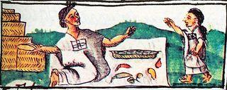 Vendedor de chile Códice Florentino