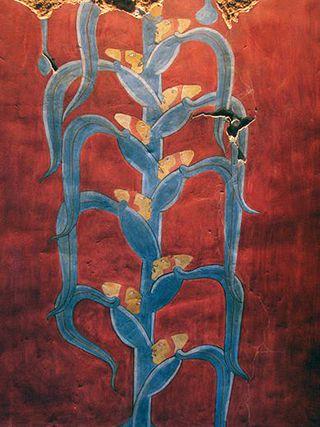 La Planta del Hombre de Maíz Mural Templo Rojo Cacaxtla, Tlaxcala