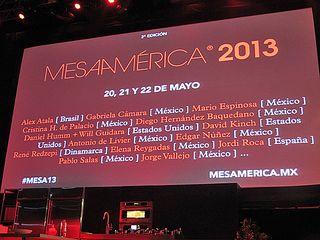 Mesamérica 4 Lineup for 2013