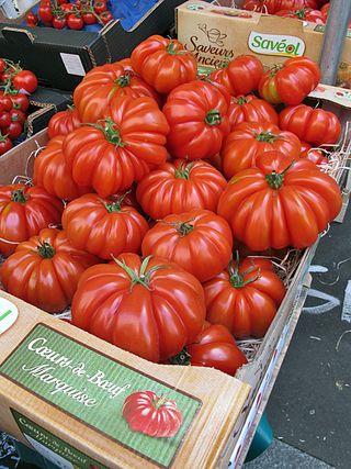 Paris Marché d'Aligre Coeur de Boeuf Tomatoes