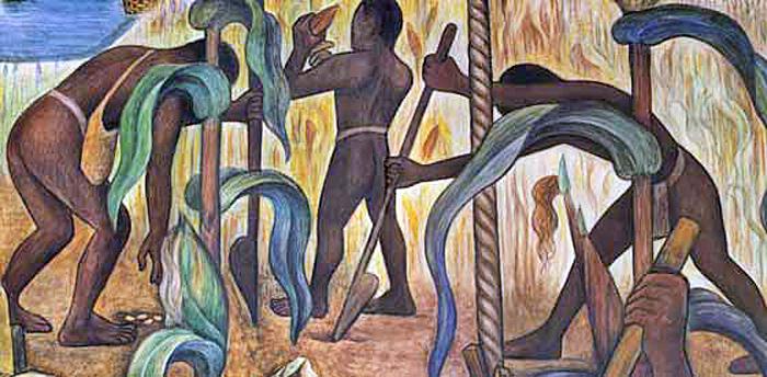 La Milpa Mural Diego Rivera Palacio Nacional DF