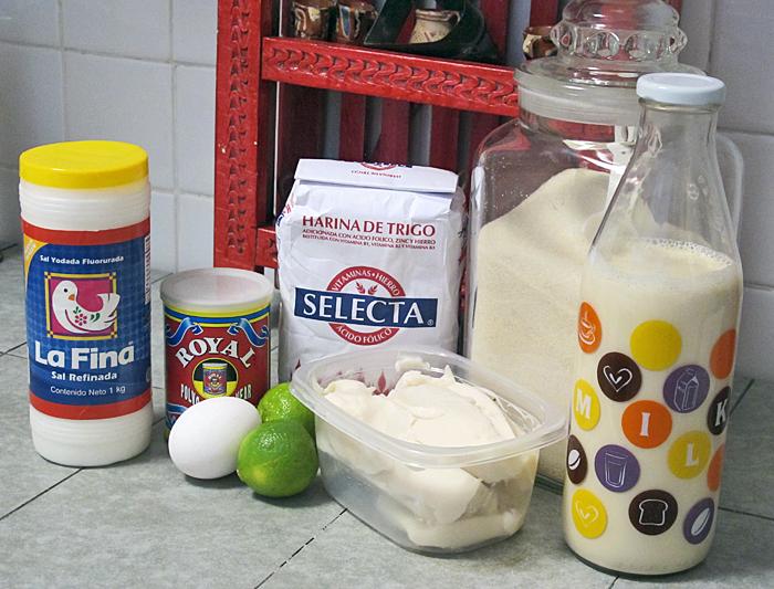 Cobbler Assorted Ingredients