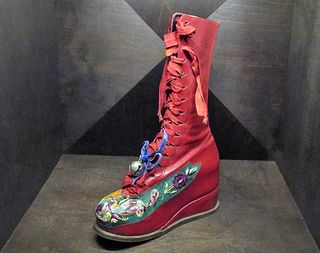Frida Red Boot Pair to Prosthesis