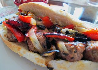 Italian Sausage and Peppers Sandwich 2