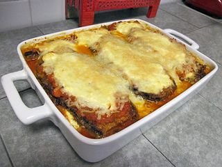 Eggplant Parmagiana Out of the Oven