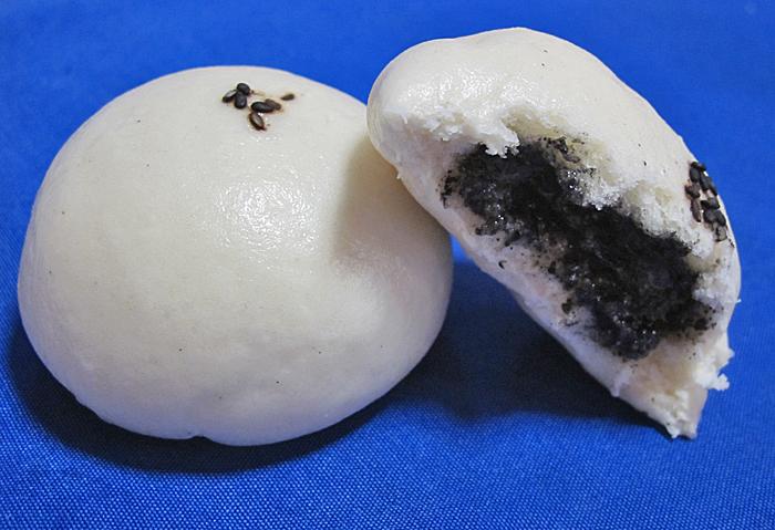 Rico Steamed Black Sesame Buns
