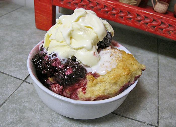 Cobbler Serving Dessert