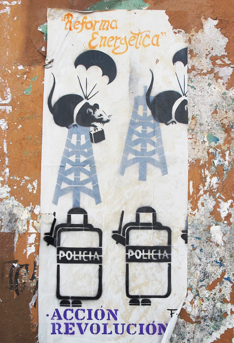 Oaxaca Stencil Reforma Energética