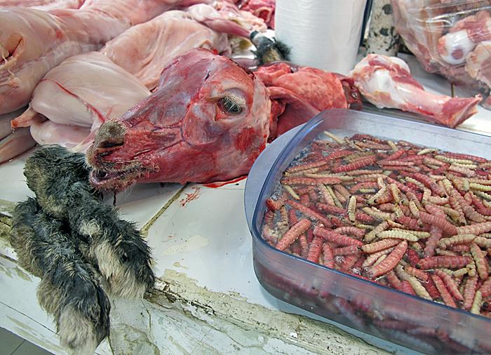 Mercado SJ Cabeza Cabrito con Gusanos Maguey