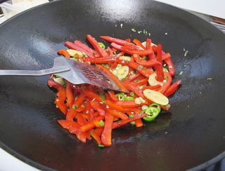 Pepper and Ginger in Wok