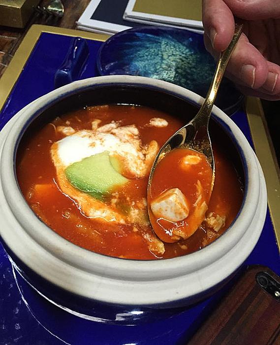 Azul Histórico Sopa de Tortilla