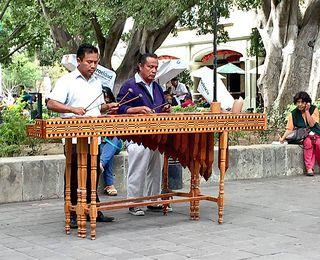 Oaxaca Zócalo Marimba 2