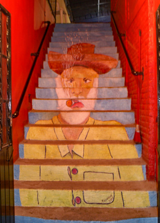 Stairway Bearded Guy