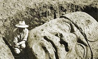 Olmec Head Excavation