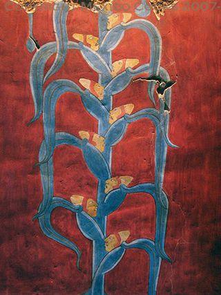 2 La Planta del Hombre de Maíz Mural Templo Rojo Cacaxtla, Tlaxcala