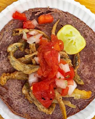 Breakfast Taco de Charales Rosalba