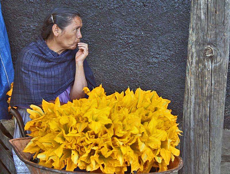 Flor de Calabaza Mercado Paracho  Michoacán
