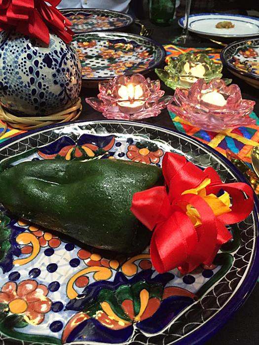 Azul Histórico Chile on the Plate