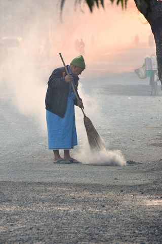 Sweeping for Año Nuevo