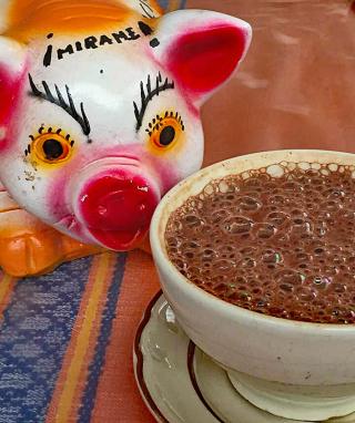 Mercado Alcancía de Puerco con Chocolate