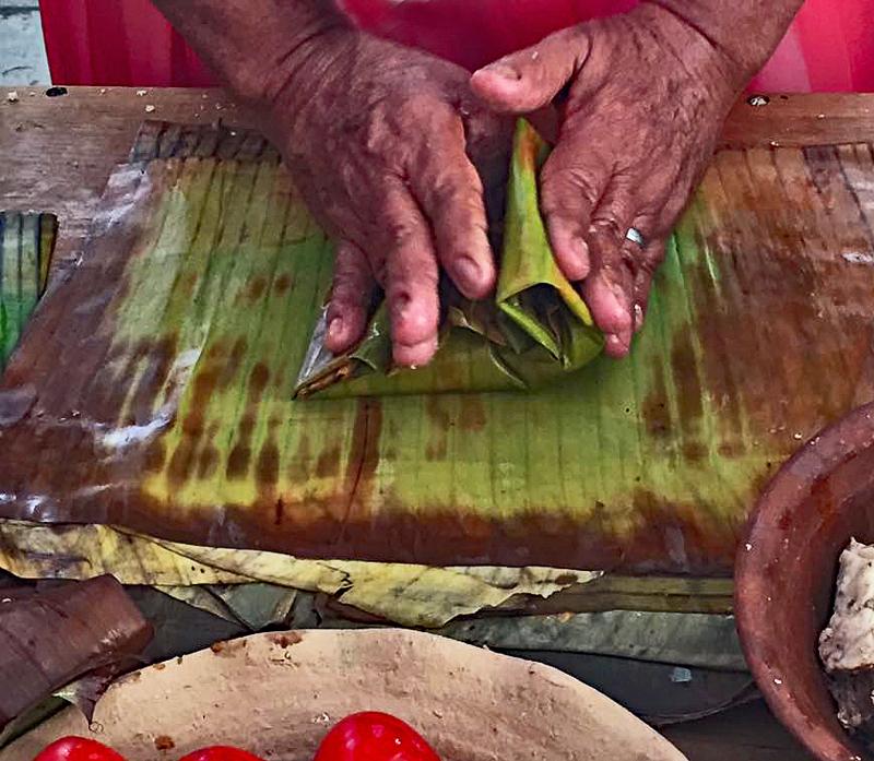 Folding Banana Leaf 2a