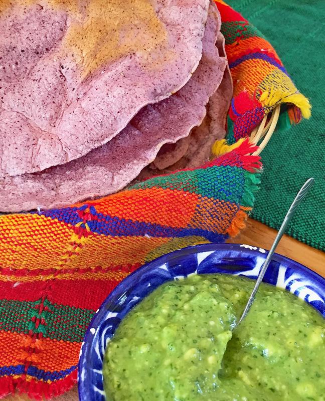 Carina Santiago Tortillas Green Salsa 1