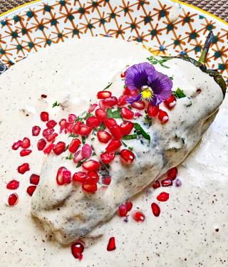 Chile en Nogada Celia Florian Oaxaca 1