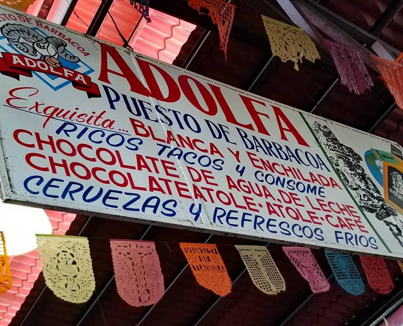 Tlacolula Barbacoa Adolfa Sign 1
