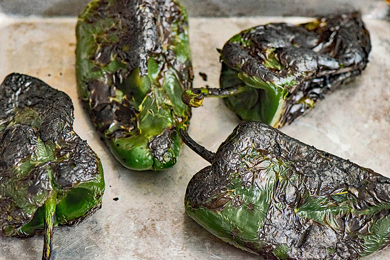 Roasted Chiles Poblano 1