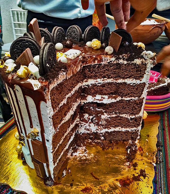 Cristina B'day Cake Cut 1