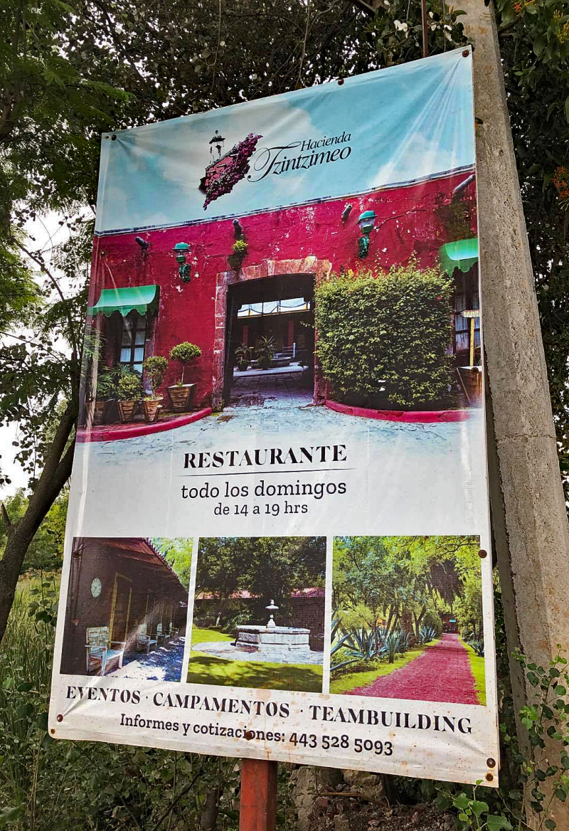 1 Hacienda Tzintzimeo Poster Entrada
