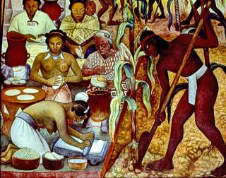 Mexican Kitchen Pre-Spanish Diego Rivera El Maíz 1924