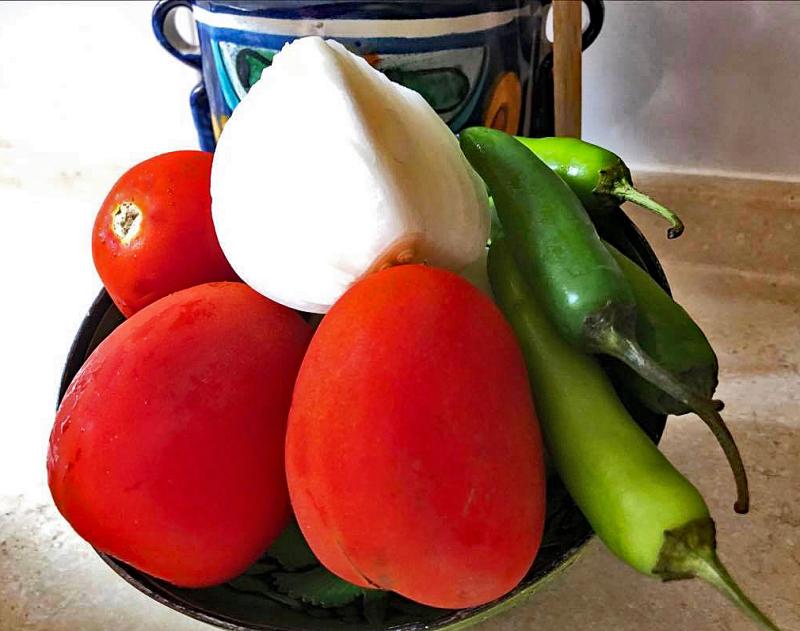 Sopa de Arroz Ingredientes Close Up 1